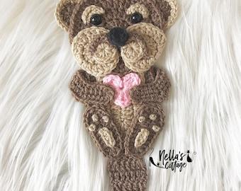 Crochet Pattern - INSTANT PDF DOWNLOAD - Otter - Crochet Otter Pattern - Crochet Otter - Otter Applique - Sea Otter - Crochet Pattern