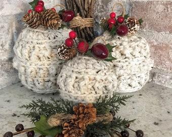 Crochet Pattern - INSTANT PDF DOWNLOAD - Crochet Christmas Ornaments - Farmhouse Christmas Ornaments - Christmas Ornaments - Crochet