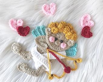 Crochet Pattern - Instant PDF DOWNLOAD - Crochet Cupid - Valentines Day - Crochet - Pattern - Cupid - Cherub - Hearts - Xoxo - Love