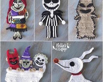 Crochet Pattern - INSTANT PDF DOWNLOAD - Crochet - Halloween - Crochet Patterns - Halloween Patterns - Holiday Patterns - Crochet Appliqués