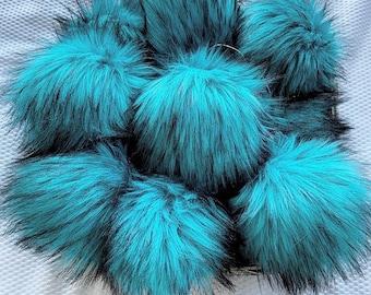 Ready To Ship - LUXURY FAUX FUR - Faux Fur Pom Pom - Faux Fur - Oversized Pom Pom - Nellas Cottage - Pom Poms