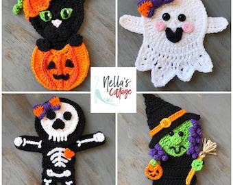 Spooky Halloween Friends - INSTANT DOWNLOAD PDF - Crochet Pattern - Halloween Pattern - Appliqué Pattern - Crochet - Patterns - Pattern