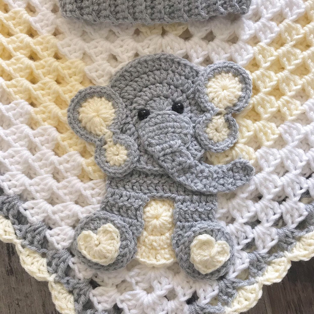 Crochet Baby Blanket Baby Blanket Handmade Baby Blanket Elephant Baby Blanket Crocheted Baby Blanket Baby Elephant
