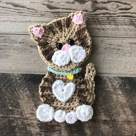 Kitty Cat keyring amigurumi figure mini crochet charm kitten made ... | 570x570