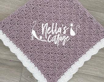 Crochet Pattern - INSTANT PDF DOWNLOAD  - Baby Blanket - Nellas Cottage - Corner to Corner Blanket - C2C Pattern - C2C