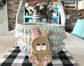 Easter Basket - Crochet Easter Basket - Custom Easter Basket - Nellas Cottage - Easter Gifts - Handmade