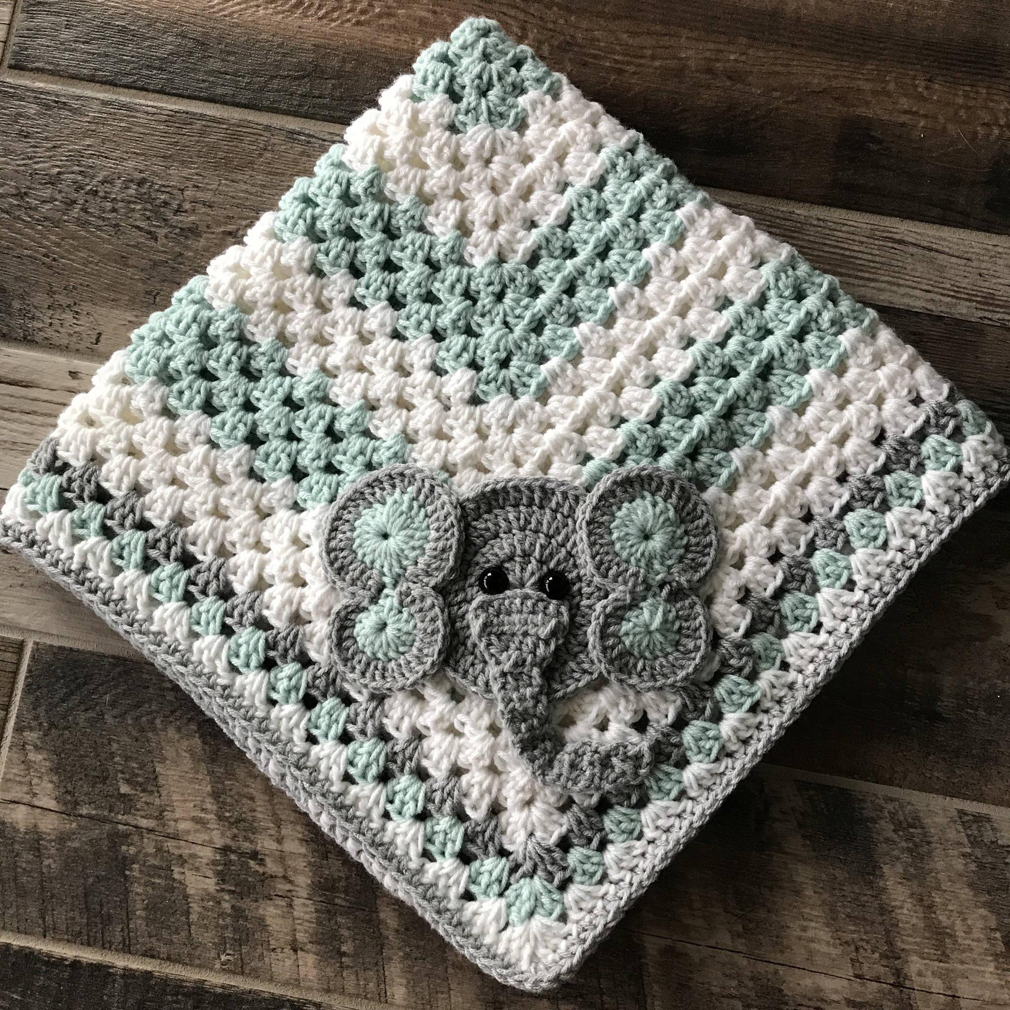 Blanket - Elephant Blanket - Baby Blanket - Elephant Baby Blanket ...