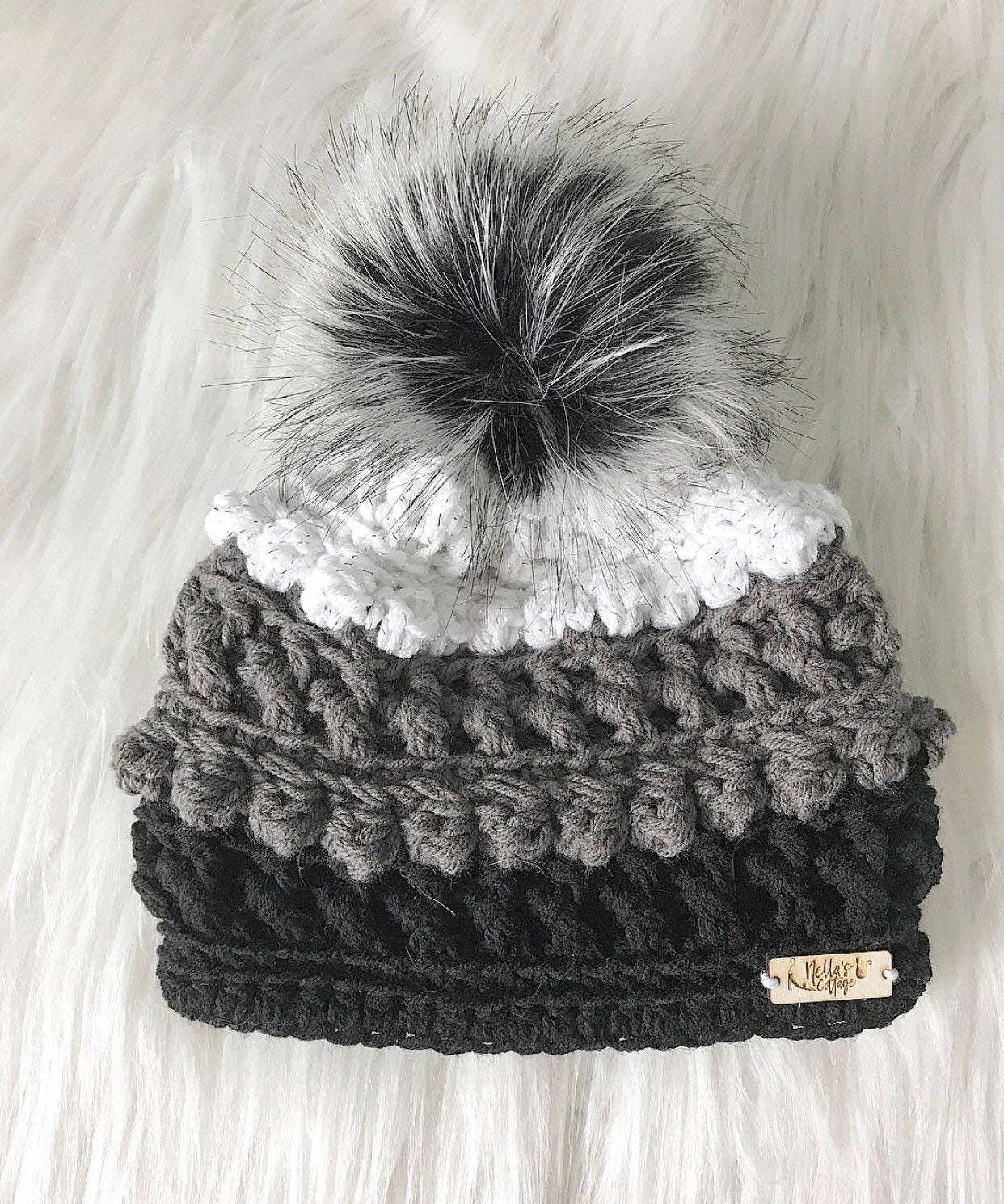 32234997867 Classic ColorBlock Beanie - Handmade Hat - Crocheted Hat - Amara Beanie -  Crocheted Beanie - Beanies - Hats - Winter Hats - Gifts For Her -