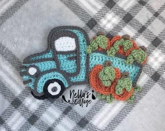 Crochet Pattern - Instant PDF DOWNLOAD - Christmas Truck - Christmas - Holiday Pattern - Christmas Pattern - Christmas Tree - Holidays
