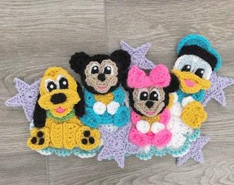 Crochet Pattern - INSTANT PDF DOWNLOAD - Crochet - Patterns - Nellas Cottage - Bedtime Buddies - Baby Appliques - Cute Applique Patterns