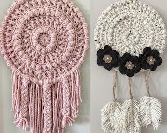 Crochet Pattern - INSTANT PDF DOWNLOAD - Crochet Dream Catchers - Amara Dream Catchers - Nellas Cottage - Home Decor - Farmhouse Home Decor