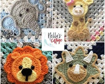 Crochet Zoo Animals - Zoo Animal Patterns - INSTANT PDF DOWNLOAD - Crochet Zoo Animal Patterns - Elephant Pattern - Lion Pattern - Giraffe