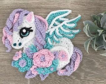 Crochet Pattern - INSTANT PDF DOWNLOAD - Nellas Cottage - Crochet Pegasus - Magical Pegasus - Pegasus Pattern - Pegasus Crochet Pattern