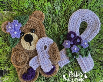 Crochet Pattern - INSTANT PDF DOWNLOAD - Nellas Cottage - Be The Light - No One Fights Alone - Cancer Awareness - Warrior - Cancer Sucks