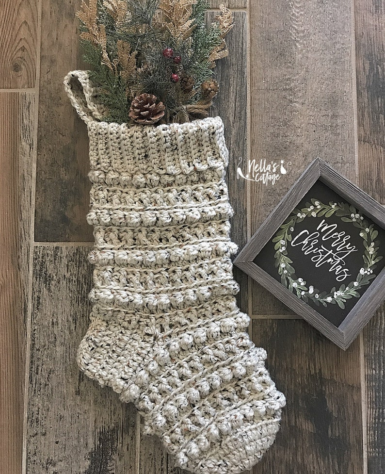 Crochet Pattern  INSTANT PDF DOWNLOAD  Crochet Stocking image 0