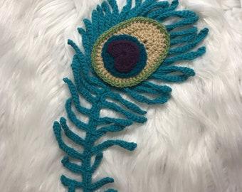 Crochet Pattern - INSTANT PDF DOWNLOAD - Crochet - Peacock Feather - Peacock - Pattern - Crochet Patterns - Crochet Applique - Applique