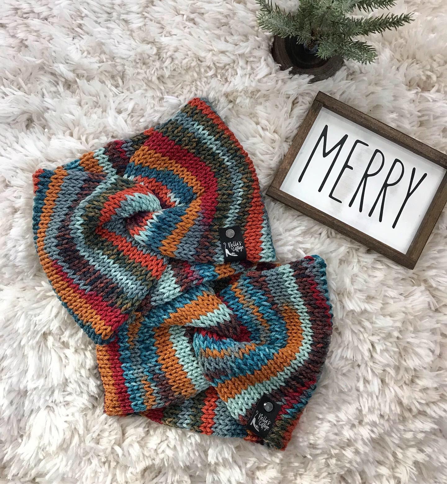 Loom Knit Ear Warmer - Ear Warmer - Headband - Knit ...