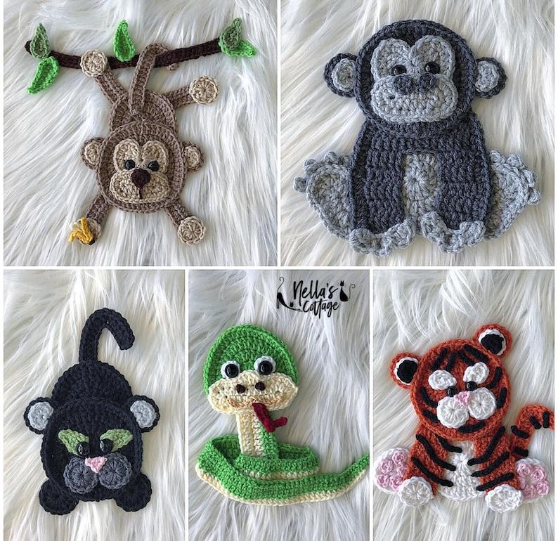 Crochet Pattern  INSTANT PDF DOWNLOAD  Jungle Animals  image 0