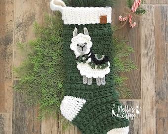 Llama Christmas Stocking - Christmas Stocking - llamas  - llama - Stocking -Christmas - Kids Stockings- christmas