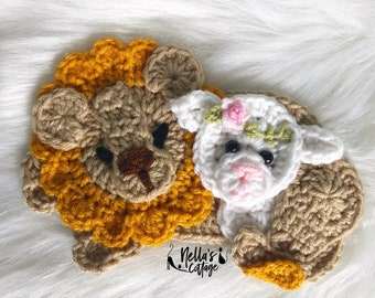 Crochet Pattern - INSTANT PDF DOWNLOAD - Easter Pattern - Crochet Easter Pattern - The Lion of Judah- Crochet Lion - Lion and the Lamb