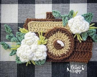 Crochet Pattern - INSTAND PDF DOWNLOAD - Nellas Cottage -Boho Camera - Crochet Camera - Camera Pattern - Crochet Boho Camera Pattern