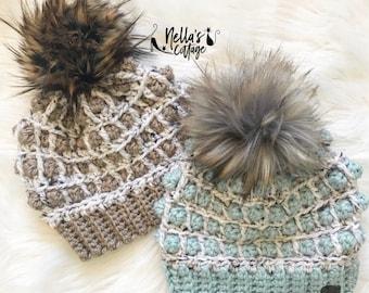 Crochet Pattern - INSTANT PDF DOWNLOAD - Hat Pattern - The Amelia Beanie - Beanie Pattern - Chunky Knit Pattern - Crochet - Pattern - diy