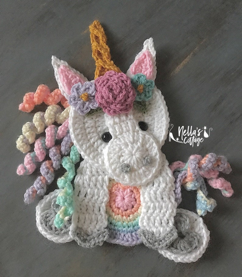 9f7935f70686 Crochet Pattern INSTANT PDF DOWNLOAD Unicorn Pattern