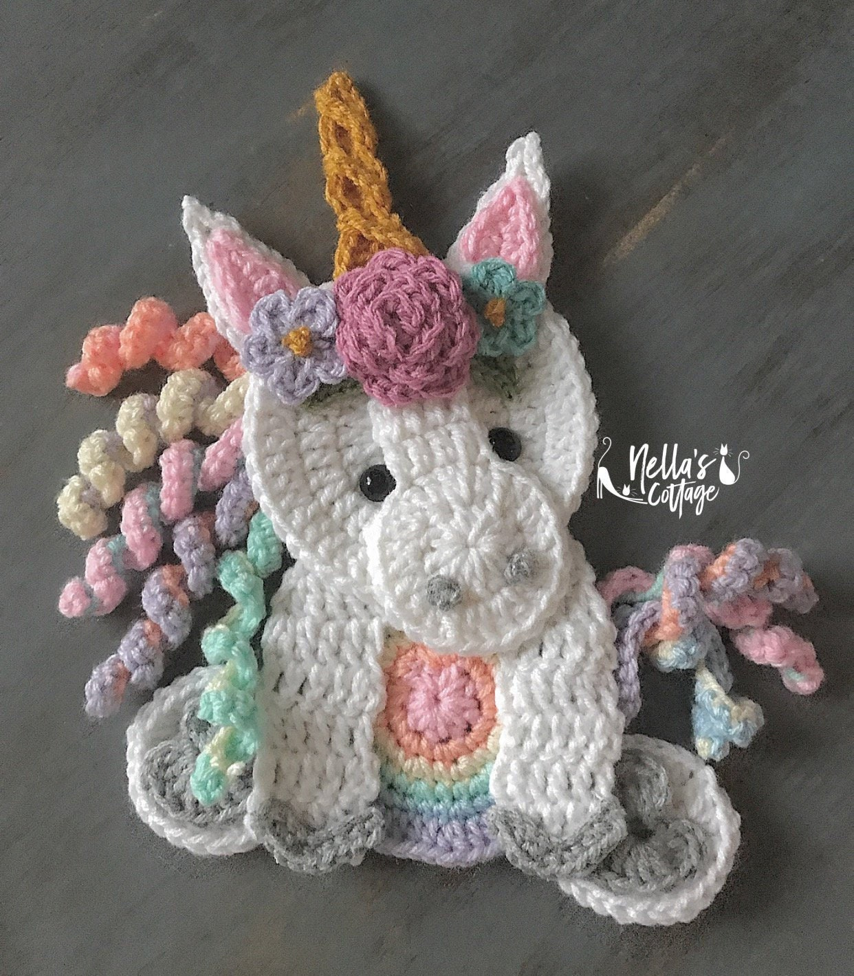 Crochet Pattern Instant Pdf Download Unicorn Pattern Etsy