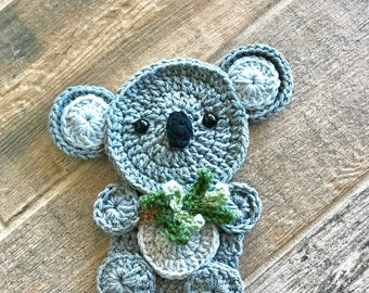 Crochet Pattern - INSTANT PDF DOWNLOAD - Crochet Applique Pattern - Applique Pattern - Crochet Koala - Koala Pattern - Koala Applique