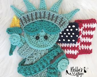 Crochet Pattern - INSTANT PDF DOWNLOAD - Lady Liberty - Crochet Statue of Liberty - Statue of Liberty - America - Crochet America - UsA