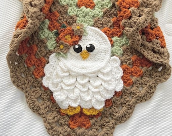 Crochet Baby Blanket - Baby Blanket - Handmade Baby Blanket - Owl Baby Blanket - Crocheted Baby Blanket - Baby  Owl