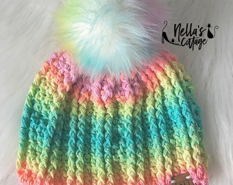 Crochet Pattern - INSTANT PDF DOWNLOAD - Hat Pattern - Crochet Hat Pattern - Nellas Cottage Patterns - Beanie Pattern - Berlin Pattern