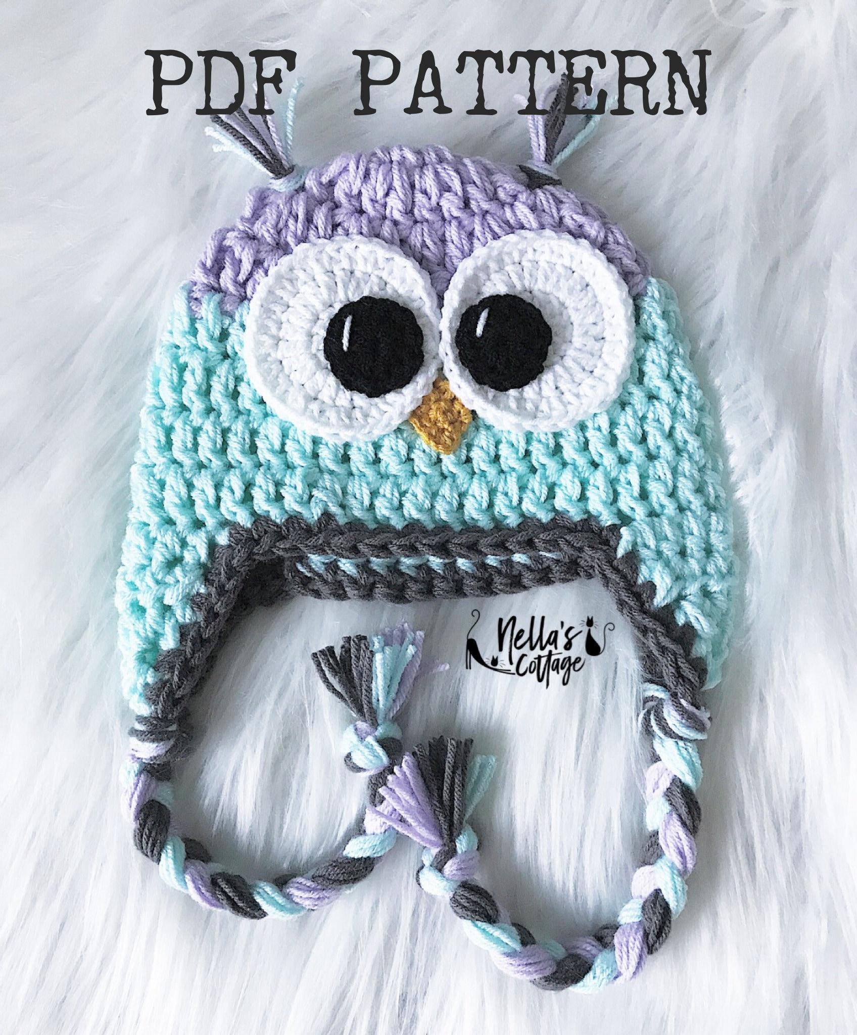 Crochet Pattern Instat Pdf Download Owl Hat Pattern Crochet