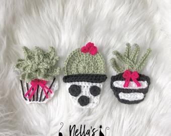 Crochet Pattern - INSTANT PDF DOWNLOAD - Nellas Cottage Patterns - Crochet - Succulents - Cactus - Crochet Succulents - Crochet Cactus