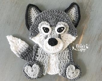 Crochet Pattern -INSTANT PDF DOWNLOAD - Wolf Pattern - Crochet Wolf - Crochet Wolf Pattern - Wolf - Wolf Cub - Baby Wolf - Wolf Appliqué