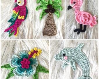 Crochet Pattern - INSTANT PDF DOWNLOAD - Tropical Crochet Patterns - Patterns - Crochet - Tutorial - Hawaiian Crochet