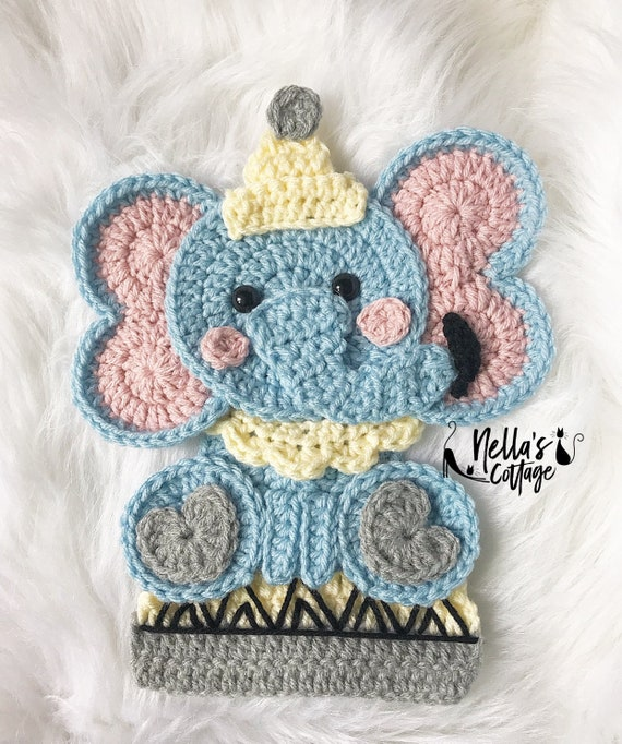 Toy Elephant Pattern #606 | Crochet Patterns | 682x570