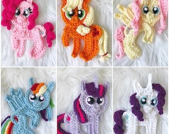 Crochet Pattern - INSTANT PDF DOWNLOAD - Nellas Cottage Patterns - Crochet - Ponies - Rainbow Ponies - Little Ponies - Patterns