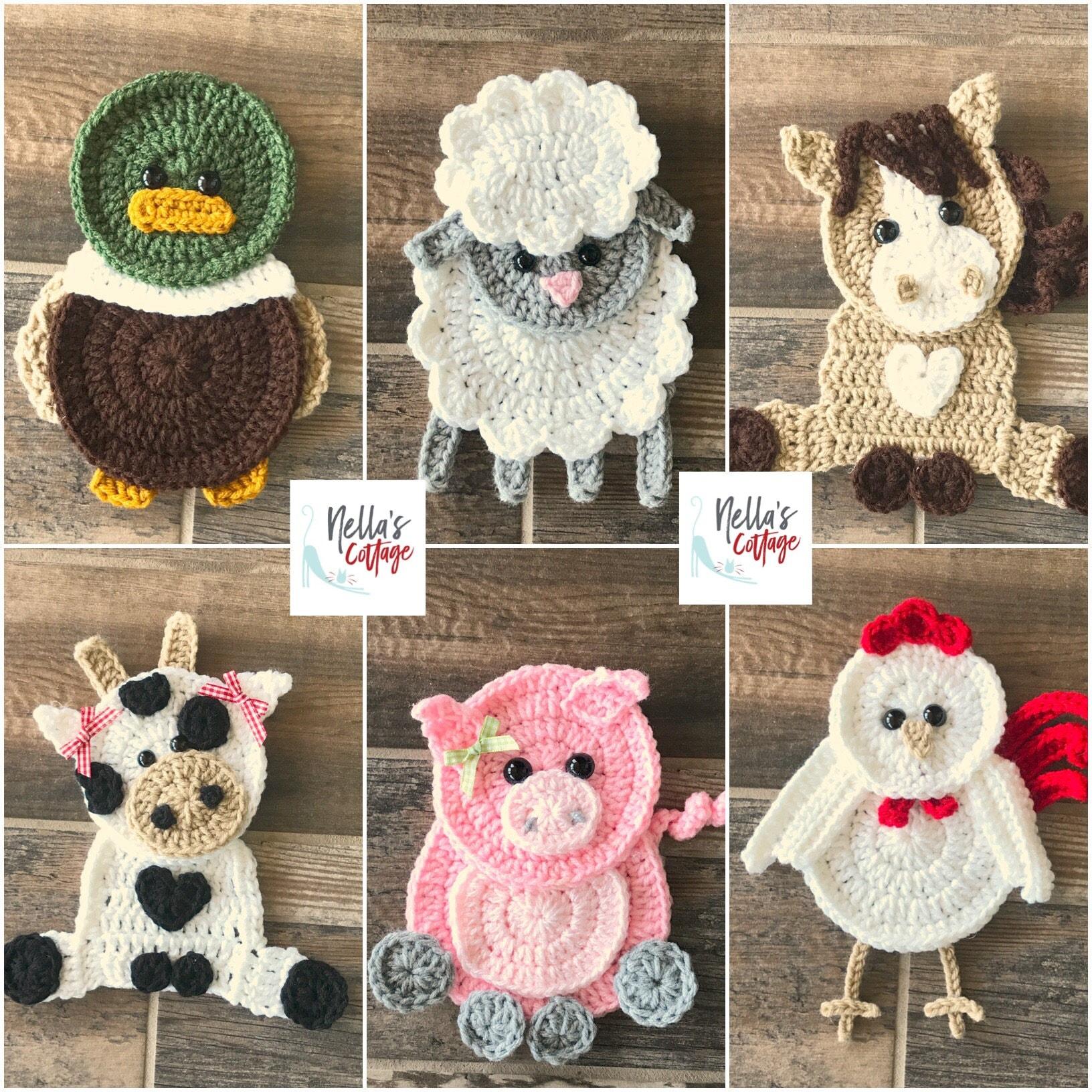 Crochet Pattern Farm Animal Patterns Instant Pdf Download