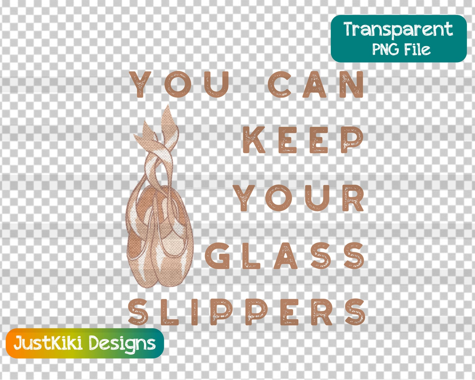 ballet dance svg - you can keep your glass slippers png - pointe shoes clipart - party invitation favors