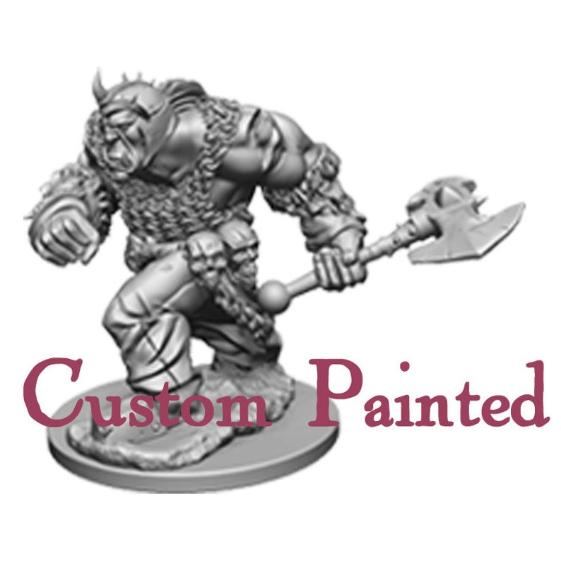 Custom Painting Service for a Orc Male 28mm WizKids Miniature Dungeons and  Dragons Miniature