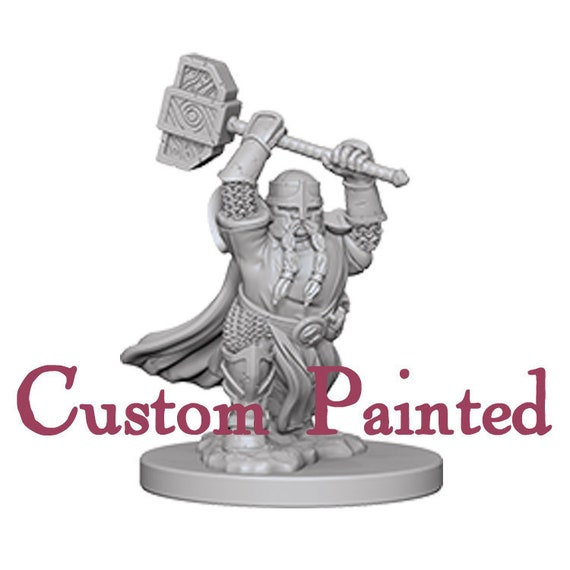 Custom Painting Service for a  Dwarf Male 28mm WizKids Miniature Dungeons and Dragons Miniature