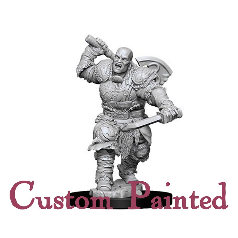 Custom Painting Service for a Goliath Male 28mm WizKids Miniature Dungeons  and Dragons Miniature