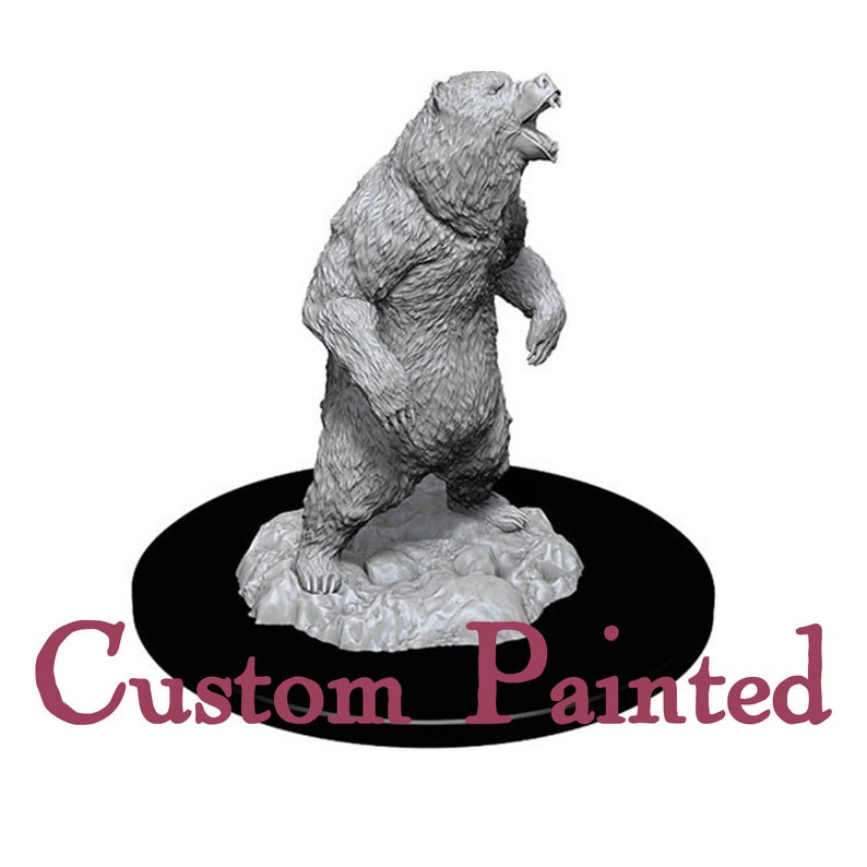 Custom Painting Service for a Bear 28mm WizKids Miniature Dungeons and  Dragons Miniature