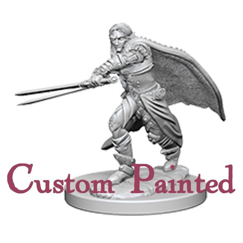 Custom Painting Service for an Elven Male 28mm WizKids Miniature Dungeons  and Dragons Miniature