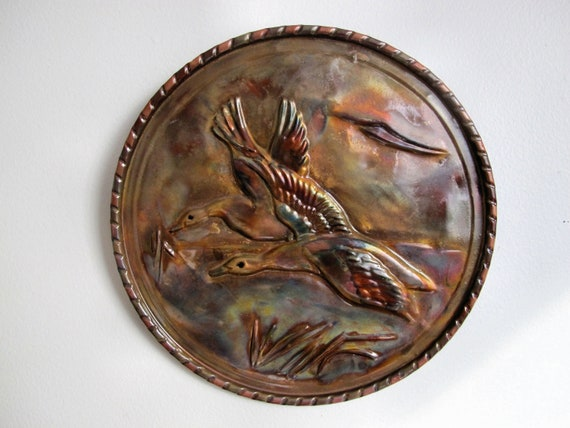 Flame painting copper plate and decorative copper plate for collectors.