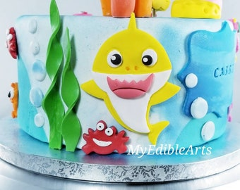 Baby Shark Cake Toppers 60 Pcs