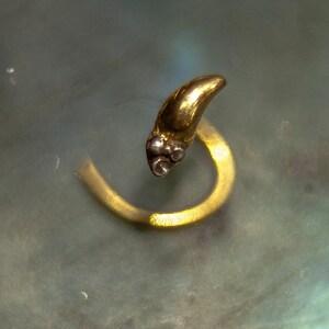 22k Gold Nose Pin Gold Nose Screw Gold Nose Stud Gold Nose Etsy