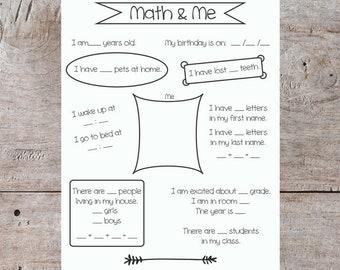 printable school math sheet teacher classroom math math worksheet elementary school math sheet introduction math sheet math and me
