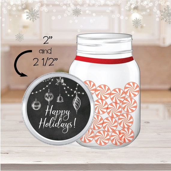 Make your own Jar Merry Christmas Jar Sticker Have yourself a Merry Christmas